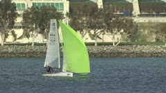 Boats Sailing in a Marina Stock Footage
