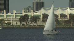 Boats Sailing in a Marina 3 Stock Footage