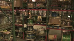 In Motion View of Warehouse Inventory 4 Stock Footage
