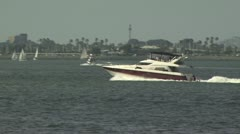 Boats Sailing in a Marina 2 Stock Footage
