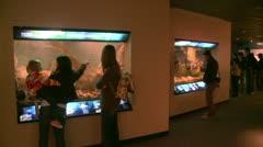 Aquarium exhibitions (5 of 7) Stock Footage