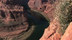 View of the Colorado River from Horseshoe Bend, Navajo Reservation, Arizona 5 Stock Footage