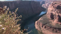 Stock Video Footage of View of the Colorado River from Horseshoe Bend, Navajo Reservation, Arizona 7