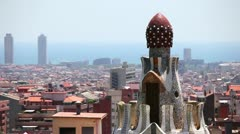 Panorama of Barcelona, Catalonia, Spain Stock Footage