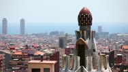 Stock Video Footage of Panorama of Barcelona, Catalonia, Spain