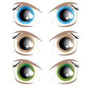 Stock Illustration of animated eyes