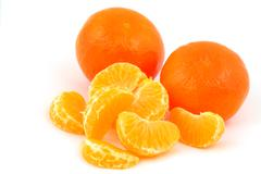 Mandarines, tangerines, clementines - stock photo