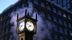 Steaming Steam Clock Stock Footage