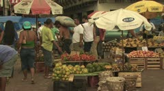 Open Air Farmers Market in the Amazon 1 Stock Footage