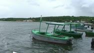 Cienfuegos, Castillo de Jagua, harber, boat passing Stock Footage