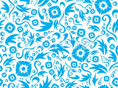 Stock Illustration of seamless flower pattern