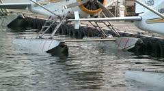 Seaplane Pontoons Stock Footage