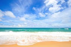 whaite sand beach - stock photo