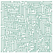 Microcircuit Stock Illustration