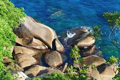 Similan rock on the beach,paradise island located at south of thailand Stock Photos