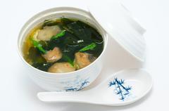 Seaweed soup Stock Photos
