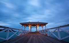 jetty walkway - stock photo
