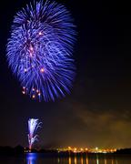 beautiful firework - stock photo