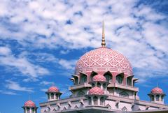 putra mosque malaysia - stock photo