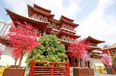 singapore buddha tooth relic temple - stock photo