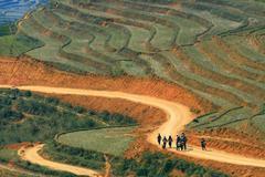 sapa hiking - stock photo