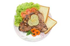 T bone pepper steak Stock Photos