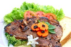 t bone pepper steak - stock photo