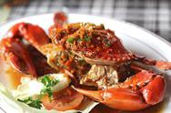Stock Photo of cooked crabs