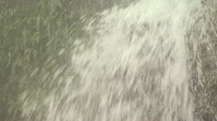 Close Up Of Al Waterfall And Surrounding Greenery Stock Footage