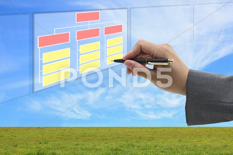 Stock Illustration of building organization and recruitment concept