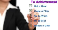 Step to achievement Stock Illustration