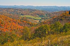 blue ridge parkway virginia - stock photo