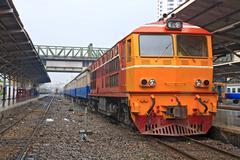 Diesel locomotive train Stock Photos