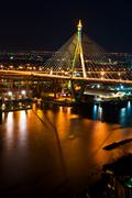 Bangkok mega bridge Stock Photos