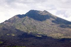 batur volcano landscape - stock photo