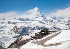 matterhorn peak alps, switzerland - stock photo