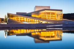 Oslo opera house norway Stock Photos