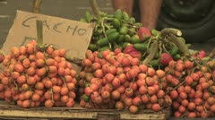 Open Air Farmers Market in the Amazon 3 Stock Footage