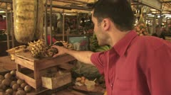 Open Air Farmers Market in the Amazon 9 Stock Footage