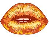 Drawn sexy lips. eps Stock Illustration
