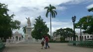 Stock Video Footage of Cienfuegos, Park José Martí