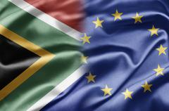 south africa and eu - stock illustration