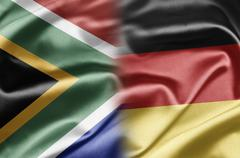 south africa and germany - stock illustration