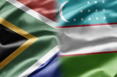 South africa and uzbekistan Stock Illustration