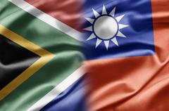 South africa and taiwan Stock Illustration