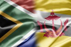 South africa and brunei Stock Illustration