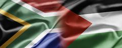 South africa and palestine Stock Illustration