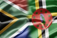 South africa and dominica Stock Illustration