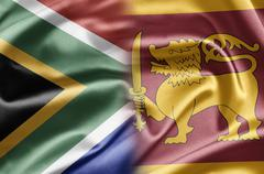 South africa and sri lanka Stock Illustration