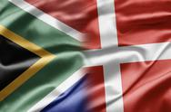 South africa and denmark Stock Illustration